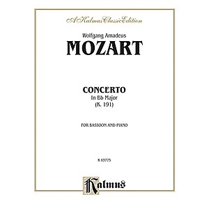 Alfred Bassoon Concerto K. 191 for Bassoon By Wolfgang Amadeus Mozart Book by Alfred