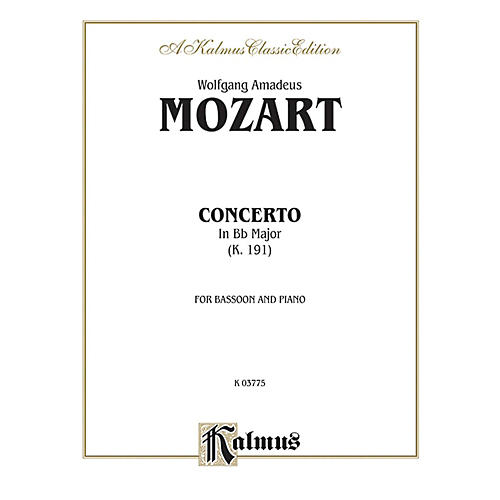 Alfred Bassoon Concerto K. 191 for Bassoon By Wolfgang Amadeus Mozart Book-thumbnail