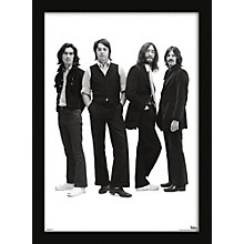 Ace Framing Beatles - Group With Long Hair 24x36 Poster