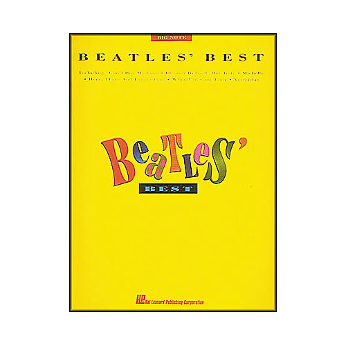 Hal Leonard Beatles' Best for Big Note Piano-thumbnail