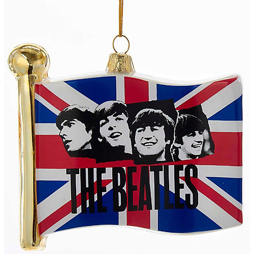 Kurt S. Adler Beatles Glass Flag Ornament-thumbnail