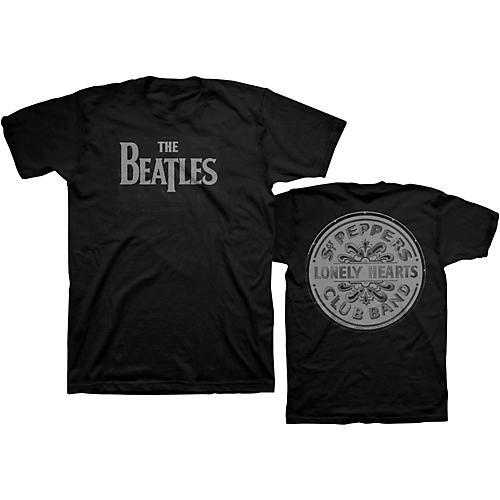 Bravado Beatles Lonely Hearts T-Shirt Black Small-thumbnail