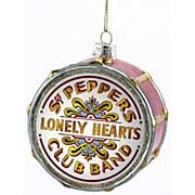 "Kurt S. Adler Beatles ""Sgt Pepper"" Glass Drum Head Ornament"