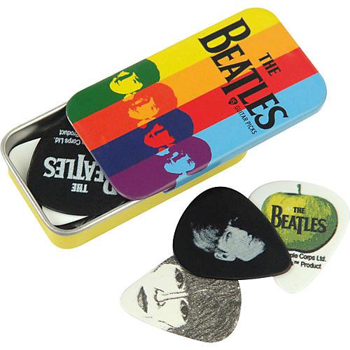 D'Addario Planet Waves Beatles Stripes Pick Tin - 15 Medium Picks