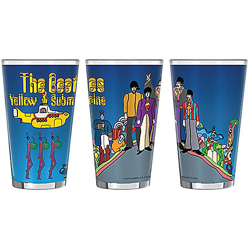 Boelter Brands Beatles Yellow Submarine Hill Sublimated Pint-thumbnail