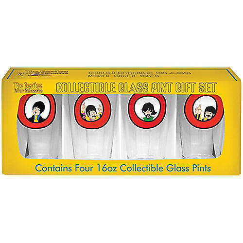 Boelter Brands Beatles Yellow Submarine Port Hole Pint Set (4 Pack)