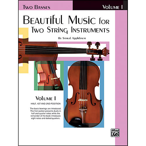 Alfred Beautiful Music for Two String Instruments Book I 2 Basses-thumbnail