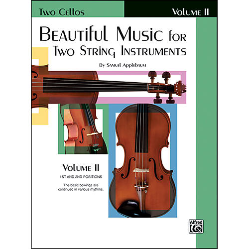 Alfred Beautiful Music for Two String Instruments Book II 2 Cellos-thumbnail