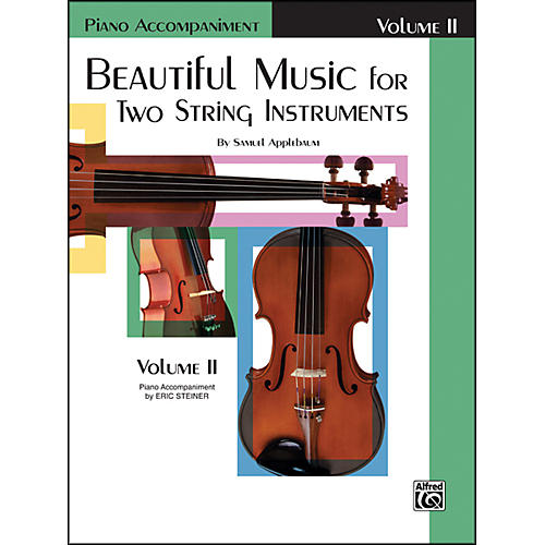 Alfred Beautiful Music for Two String Instruments Book II Piano Acc.-thumbnail