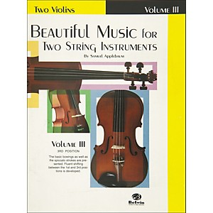Alfred Beautiful Music for Two String Instruments Book III 2 Violins by Alfred
