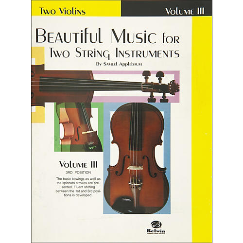 Alfred Beautiful Music for Two String Instruments Book III 2 Violins-thumbnail