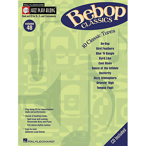 Hal Leonard Bebop Classics - Jazz Play-along Series Volume 48 (Book/CD)
