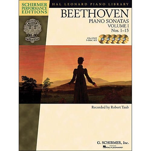 Hal Leonard Beethoven: Piano Sonatas Vol 1 (1 - 15) Schirmer Performance Edition CD's (Set of  5) By Beethoven / Taub
