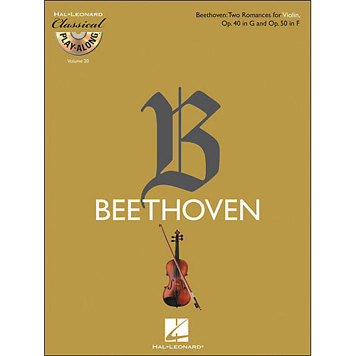 Hal Leonard Beethoven: Two Romances for Violin, Op. 40 In G & Op. 50 In F - Clsply (Book/CD) Vol.20-thumbnail