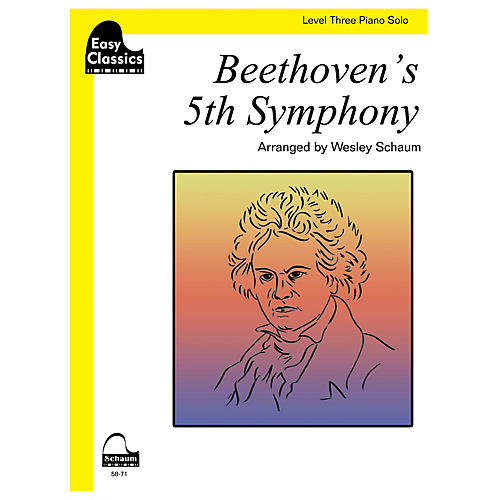 SCHAUM Beethoven's 5th Symphony Educational Piano Book by Ludwig van Beethoven (Level 3)