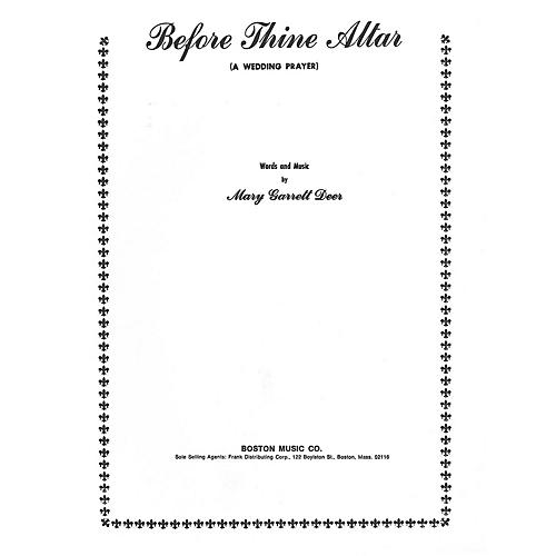 Music Sales Before Thine Altar-High Voice Music Sales America Series