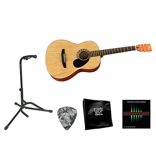 Rogue Beginner Acoustic Dreadnought 7/8 Guitar with Accessory Pack-thumbnail