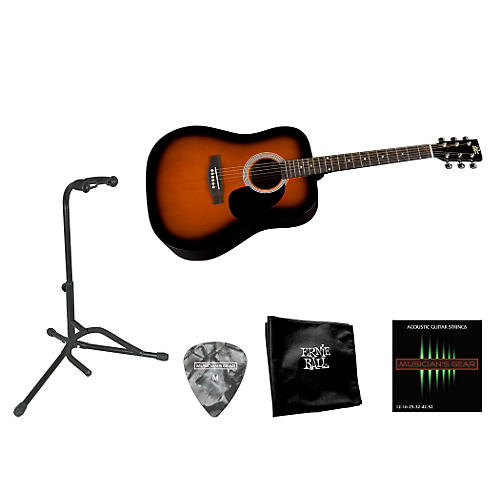 Rogue Beginner Acoustic Dreadnought Guitar with Accessory Pack-thumbnail