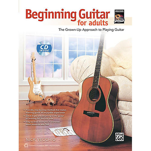 Alfred Beginning Guitar for Adults Book & CD-thumbnail