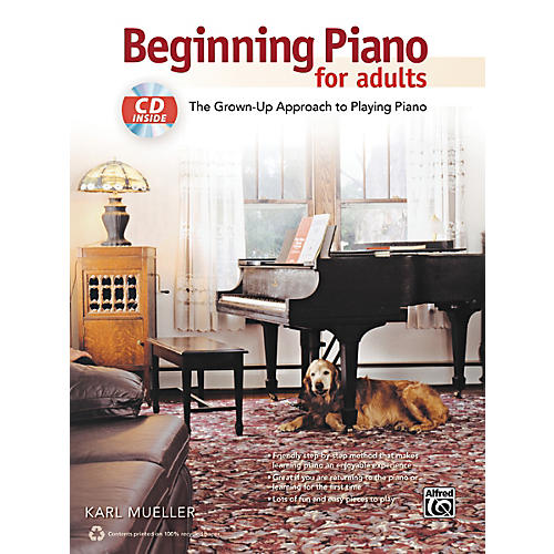Alfred Beginning Piano for Adults Book & CD