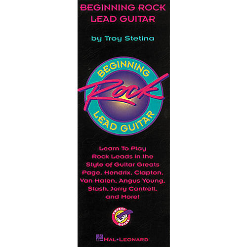 Hal Leonard Beginning Rock Lead Guitar Pocketguide Book-thumbnail