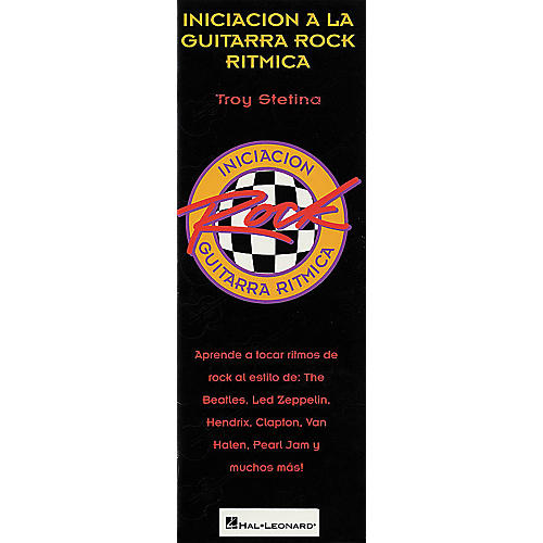 Hal Leonard Beginning Rock Rhythm Guitar Spanish Book