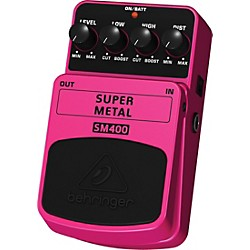 Behringer Super Metal SM400 High-Gain Distortion Guitar Effects Pedal