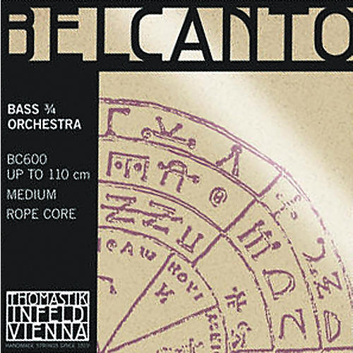 Thomastik Belcanto 3/4 Size Double Bass Strings 3/4 Size Solo F# String