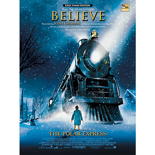 Alfred Believe (from The Polar Express) Easy Piano Sheet-thumbnail