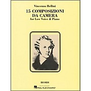 Hal Leonard Bellini - 15 Composizioni Da Camera for Low Voice & Piano