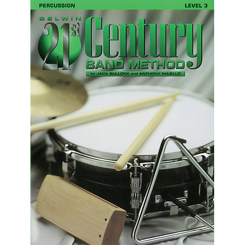 Alfred Belwin 21st Century Band Method Level 3 Percussion Book-thumbnail
