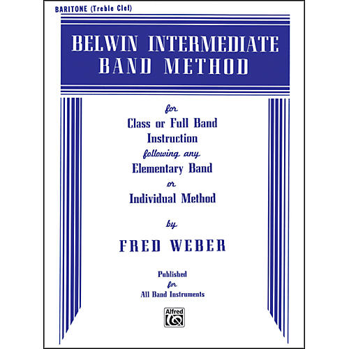 Alfred Belwin Intermediate Band Method Baritone T.C.-thumbnail