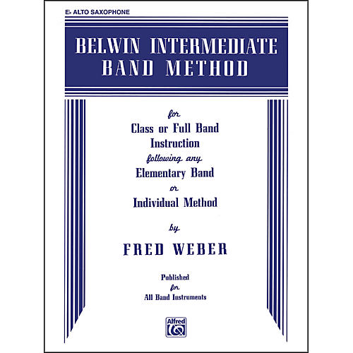 Alfred Belwin Intermediate Band Method E-Flat Alto Saxophone-thumbnail