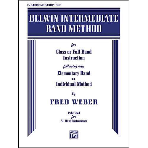 Alfred Belwin Intermediate Band Method E-Flat Baritone Saxophone Book-thumbnail
