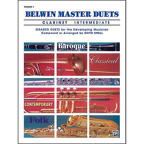Alfred Belwin Master Duets (Clarinet) Intermediate Volume 1-thumbnail