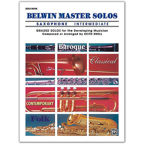 Alfred Belwin Master Solos Volume 1 (Saxophone) Intermediate Solo Book Only-thumbnail