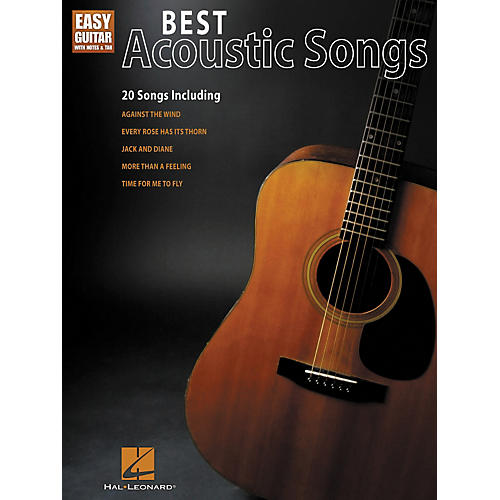 Hal Leonard Best Acoustic Songs - Easy Guitar With Notes & Tab Series-thumbnail