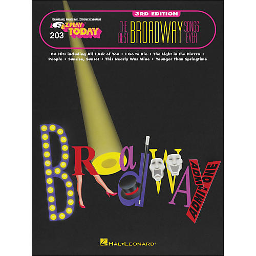 Hal Leonard Best Broadway Songs Ever 3rd Edition E-Z play 203-thumbnail