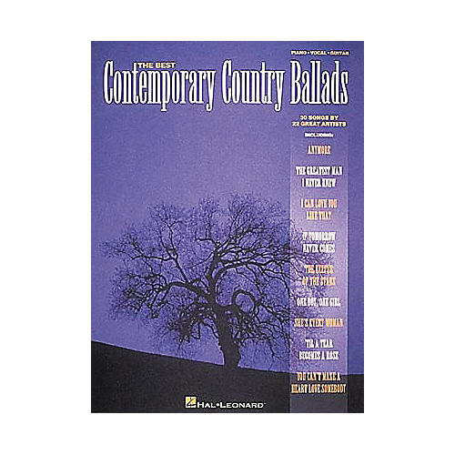 Hal Leonard Best Contemporary Country Ballads Piano, Vocal, Guitar Songbook-thumbnail