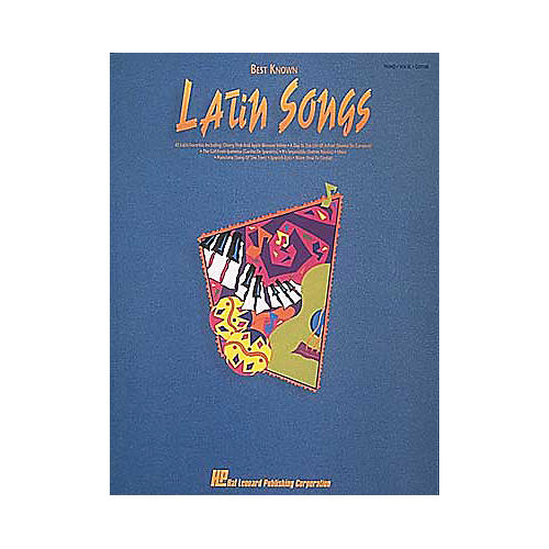 Hal Leonard Best Known Latin Songs Piano, Vocal, Guitar Songbook