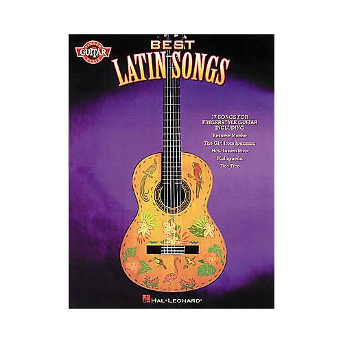 Hal Leonard Best Latin Songs Fingerstyle Guitar Book