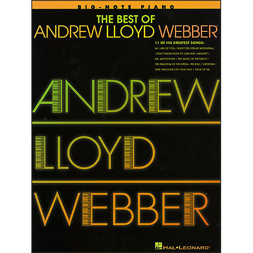 Hal Leonard Best Of Andrew Lloyd Webber - 11 Of His Greatest Songs for Big Note Piano-thumbnail