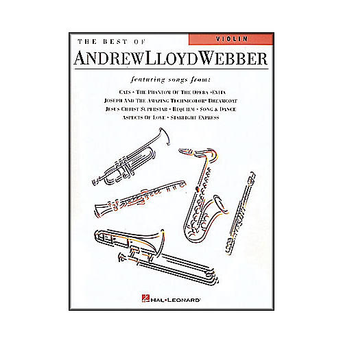 Hal Leonard Best Of Andrew Lloyd Webber for Violin