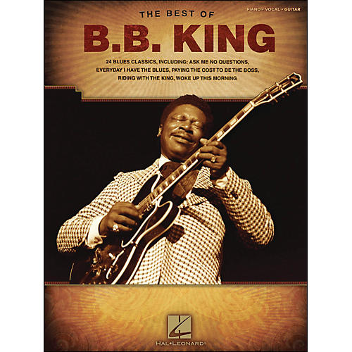 Hal Leonard Best Of B.B. King arranged for piano, vocal, and guitar (P/V/G)