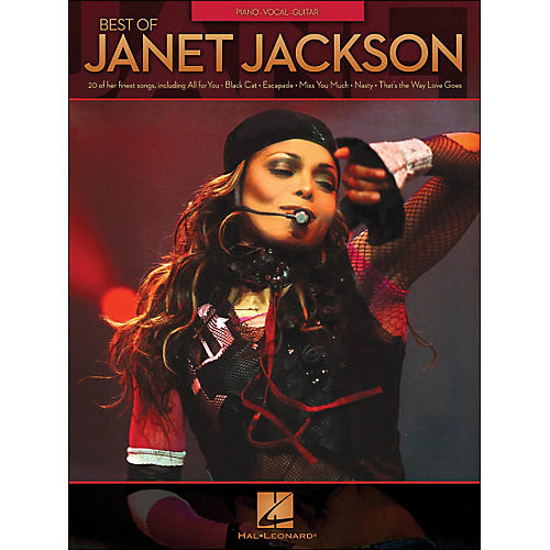 Hal Leonard Best Of Janet Jackson arranged for piano, vocal, and guitar (P/V/G)-thumbnail