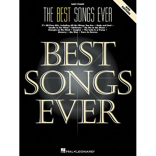Hal Leonard Best Songs Ever For Easy Piano 6th Edition-thumbnail