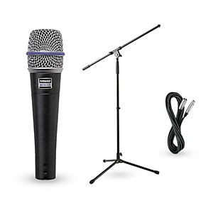 Shure Beta 57A Dynamic Microphone with Cable and Stand by Shure