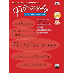 Alfred Big Band Drumming Fill-osophy by Steve fidyk Book and MP3 CD by Alfred