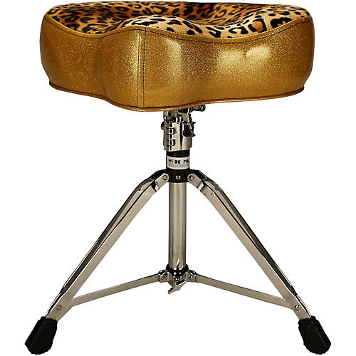 Pork Pie Big Boy Throne with Leopard top Gold Sparkle