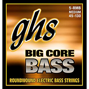 GHS Big Core 5 String Drop Tuning Bass Guitar Strings 45-130 by GHS